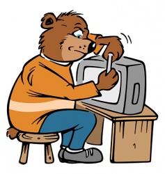 bear repair vector image