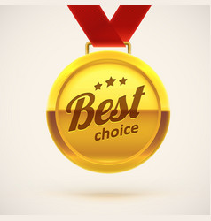 best choice gold medal eps 10 vector image