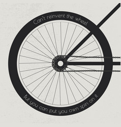 Bike wheel with quote vector