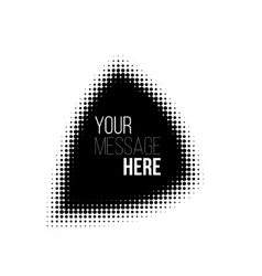 Black and white halftone pattern backround vector