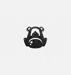 black silhouette backpack traveler as emblem vector image
