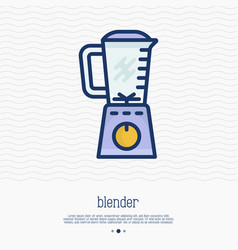 blender thin line icon vector image