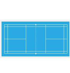 Blue badminton court vector