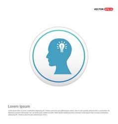 bulb concept creative idea icon - white circle vector image