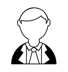 Businessman avatar character icon vector