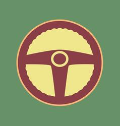 Car driver sign cordovan icon and mellow vector