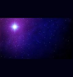 christmas star night sky with shining stars vector image