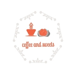 Coffee decorative icons set with drink and sweet vector image