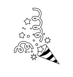 confetti icon character 03 vector image