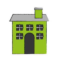 cute building antique icon vector image