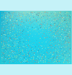 Cyan color background stars confetti vector