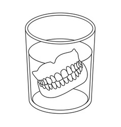 Denturesold age single icon in outline style vector