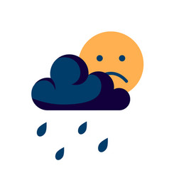 Depression concept in simple flat style vector