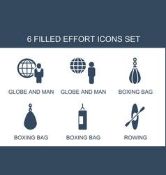 Effort icons vector