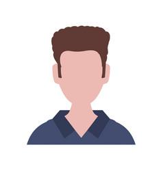 faceless man avatar vector image