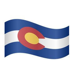 Flag of colorado waving on white background vector