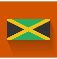 Flat flag jamaica vector