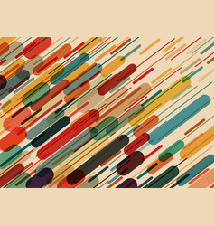 Flat style pattern with rounded objects and lines vector