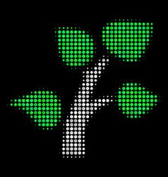 flora plant halftone icon vector image