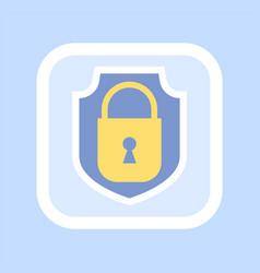 golden closed padlock icon confidential vector image