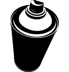 graffiti spraycan in black over white vector image