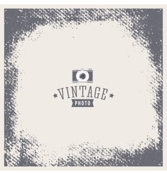 Grunge vintage texture Photo frame with vector