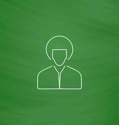 hippie man computer symbol vector image