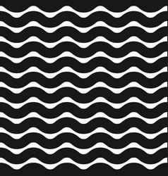 Horizontal zigzag or wavy lines monochrome vector