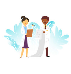 hospital medical doctors male and female medicine vector image