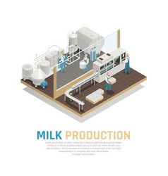 Industrial dairy production background vector