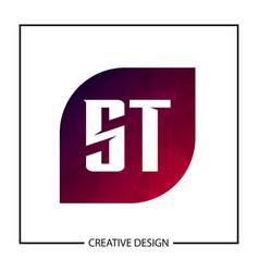 Initial letter st logo template design vector