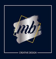 Initial mb letter logo template design vector