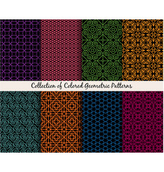 mandala style ethnic patterns set vector image