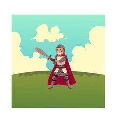 medieval knight apprentice sword bearer squire vector image vector image