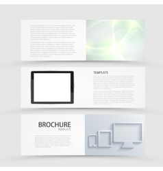 modern banners set on gray background vector image