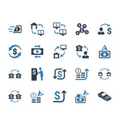 Money transaction icons vector