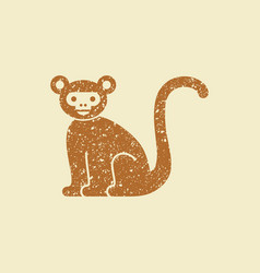 monkey flat icon vector image
