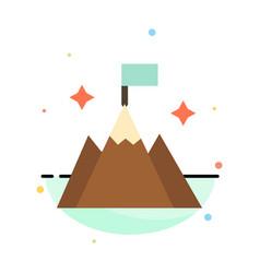 Mountain flag user interface abstract flat color vector