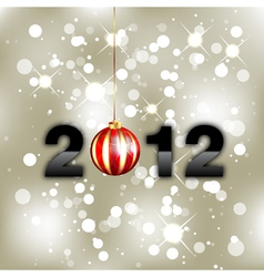 new year background 2012 vector image