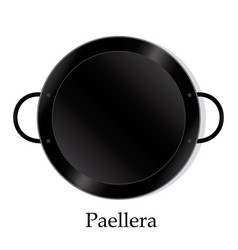 paellera empty vector image