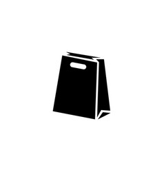 Paper bag package flat icon vector