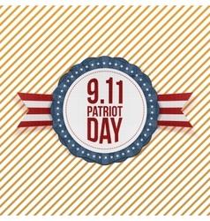 Patriot Day circle Emblem with Ribbon vector