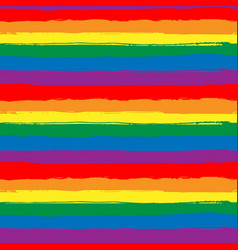rainbow striped seamless pattern lgbt flag vector image