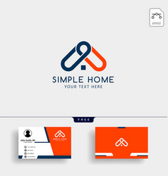 real estate home creative logo template with vector image