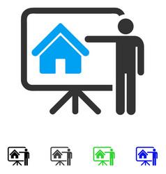 Realtor presentation board flat icon vector