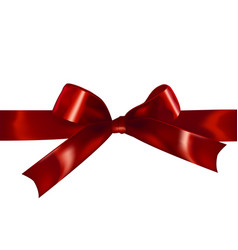 red isolated realistic bow vector image