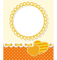 Retro style romantic scrapbook frame vector image