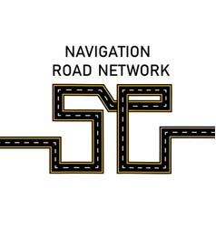 Road highway stylized inscription 5 g vector