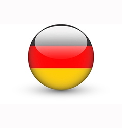 Round icon with national flag of Germany vector image