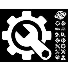 Service Tools Icon with Tools Bonus vector